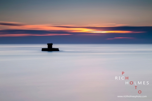 St Ouen Bay, Jersey, at sunset. 02/08/15.