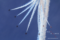 Red Arrows at Southport Airshow. 19/09/15.
